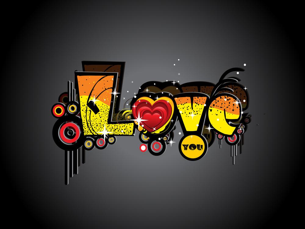 Grungy Artwork Love