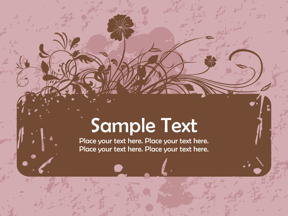 Grungy Background With Floral Patter Banner