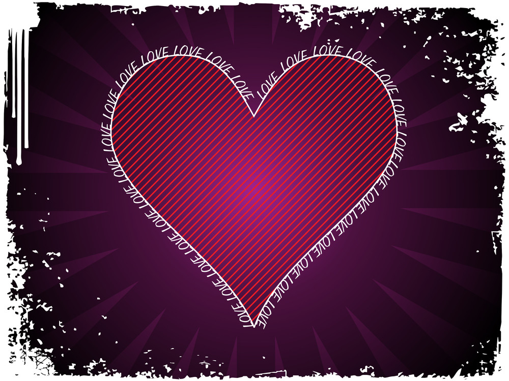 Grungy Background With Isolated Heart
