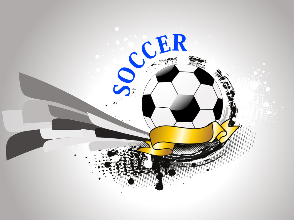 Grungy Background With Isolated Soccer
