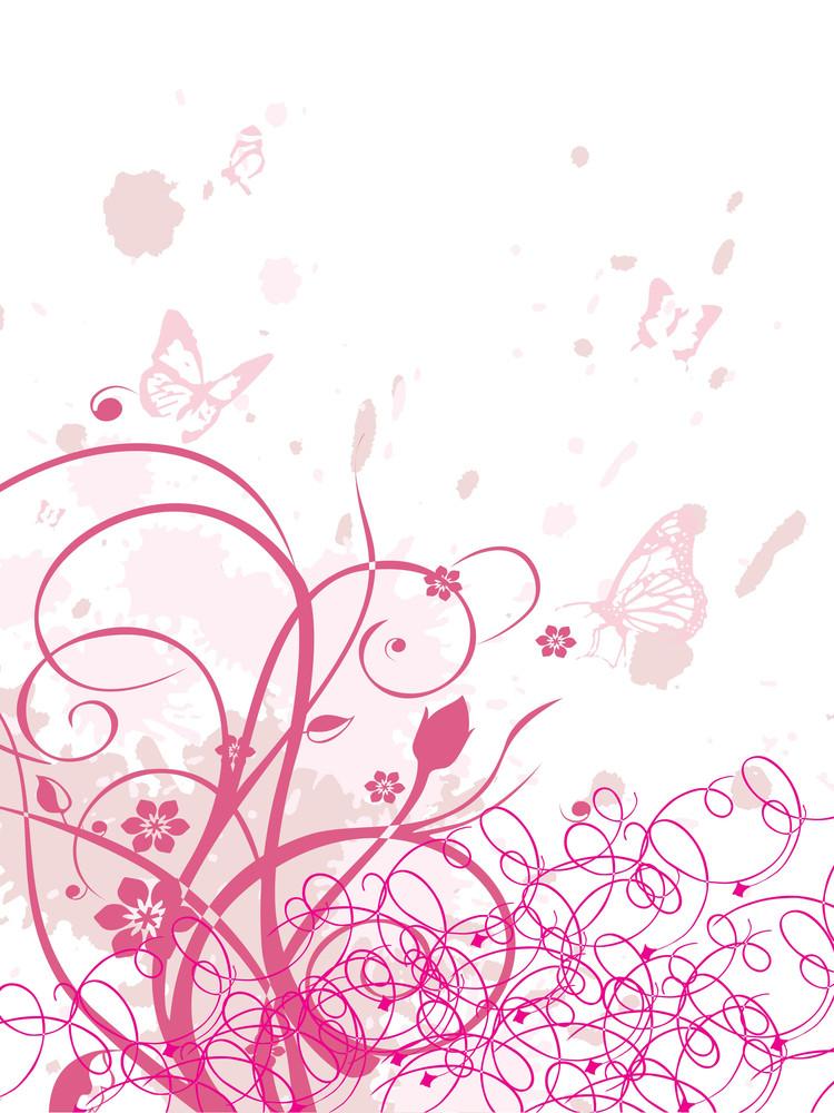 Grungy Background With Swirls
