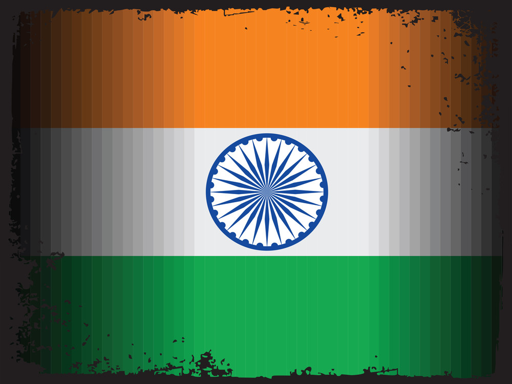 Grungy Border With Indian National Flag