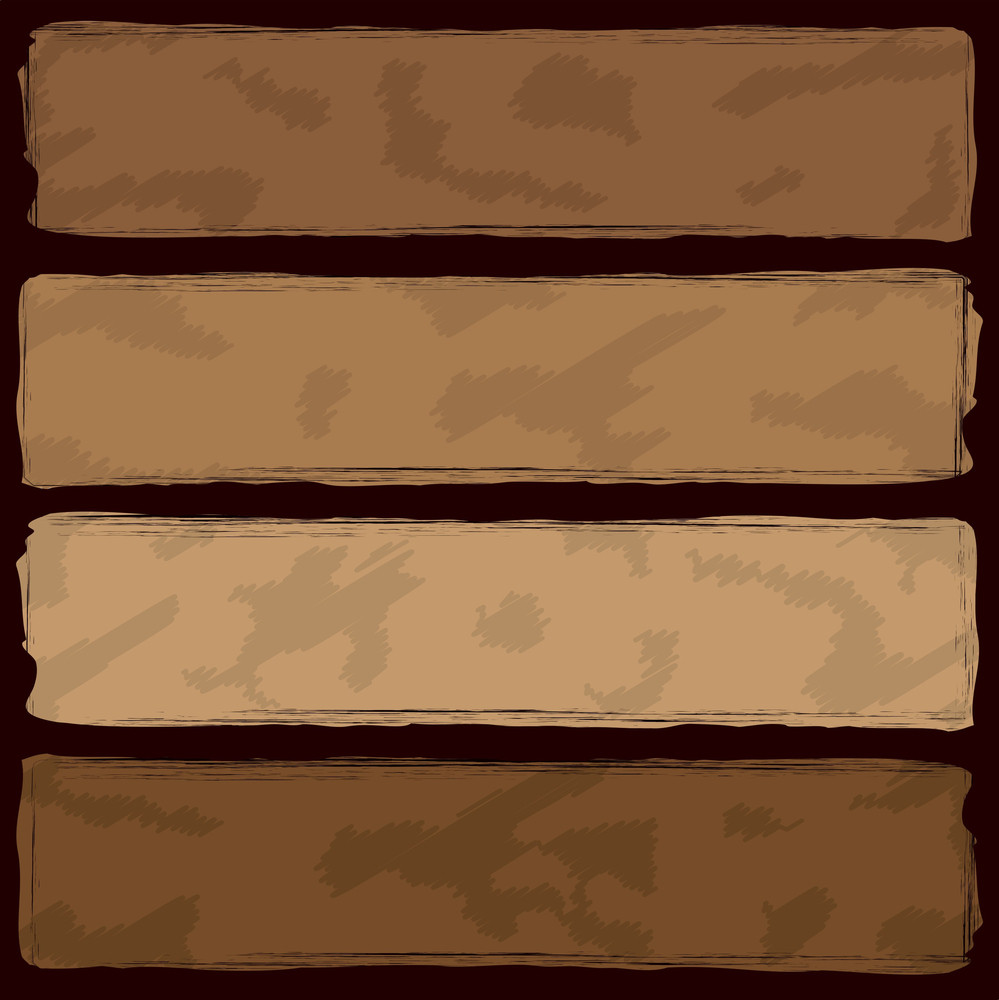 Grungy Brown Banners