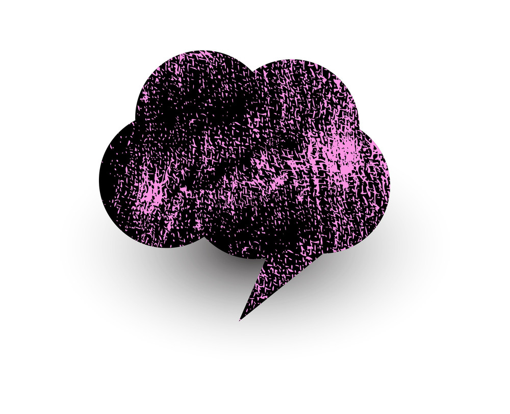 Grungy Chat Bubble