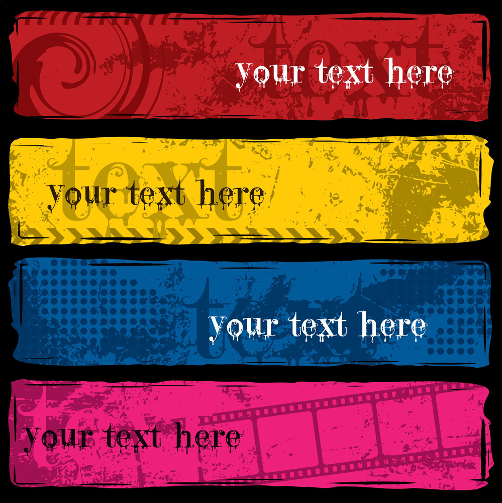 Grungy Colorful Banners