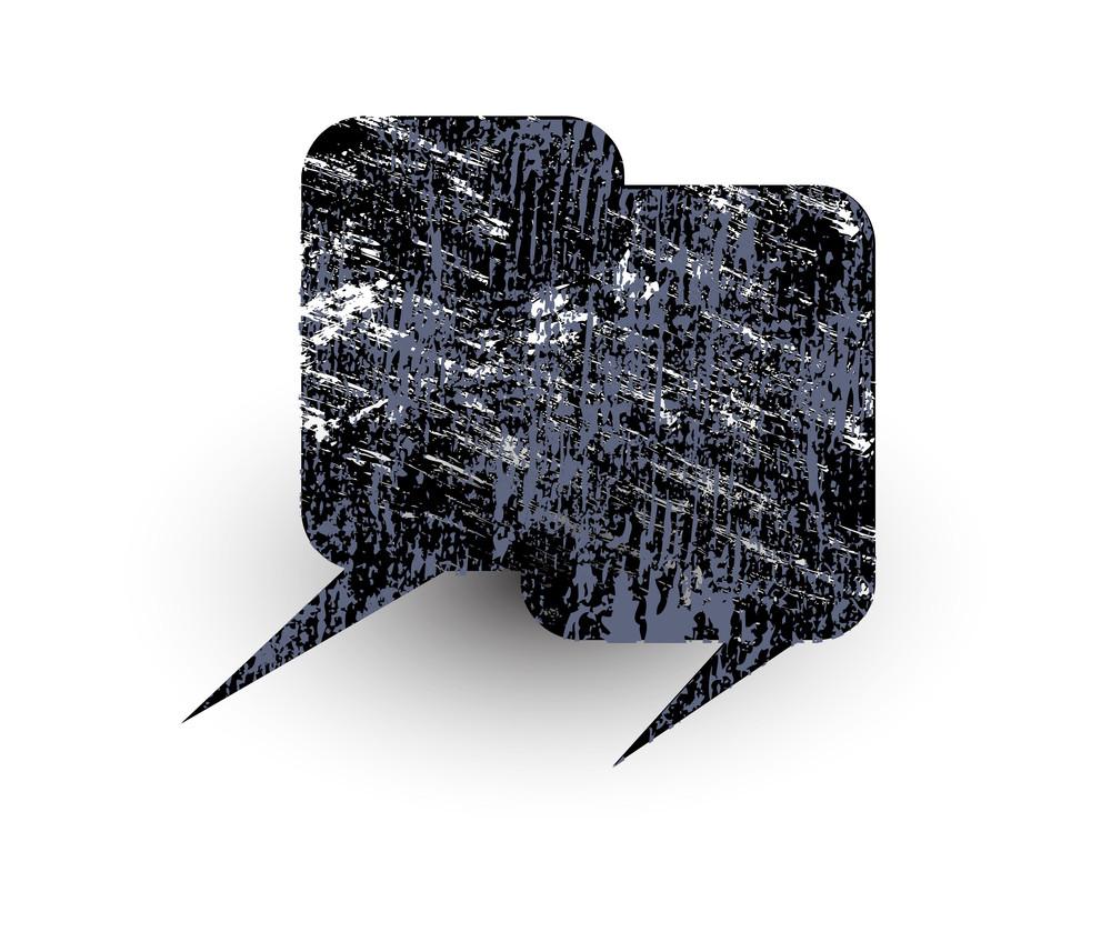 Grungy Comic Speech Bubble