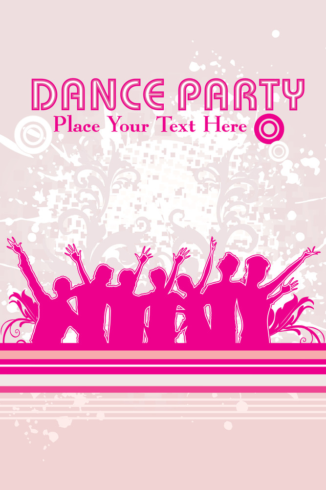 Grungy Dance Party Background