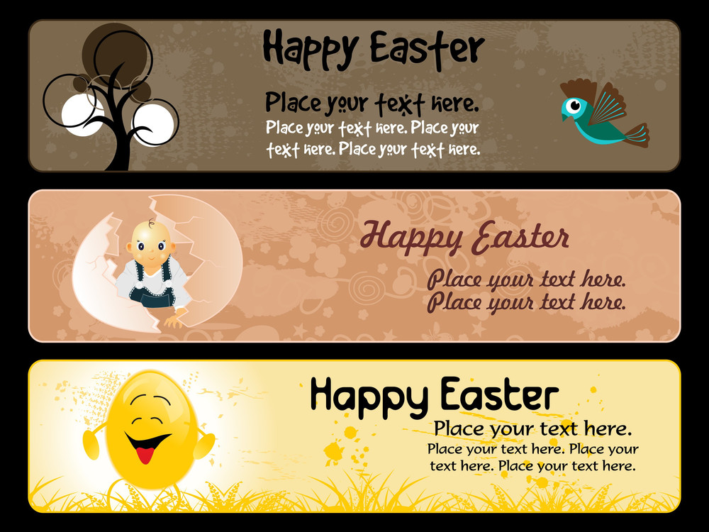 Grungy Easter Banner