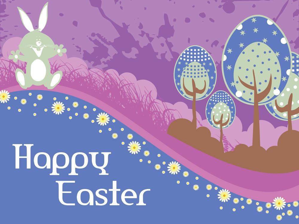 Grungy Easter Wallpaper Illustration