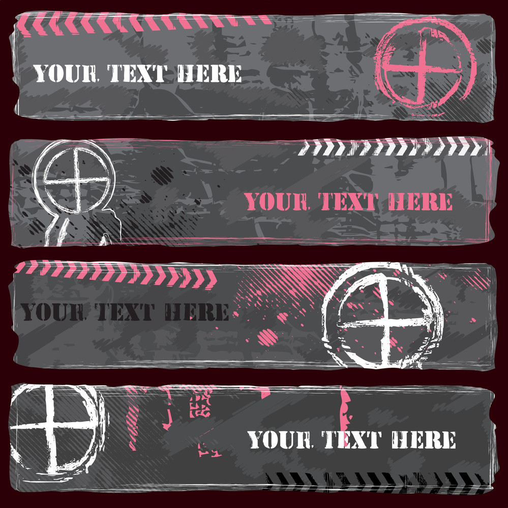Grungy Emo Banner Set