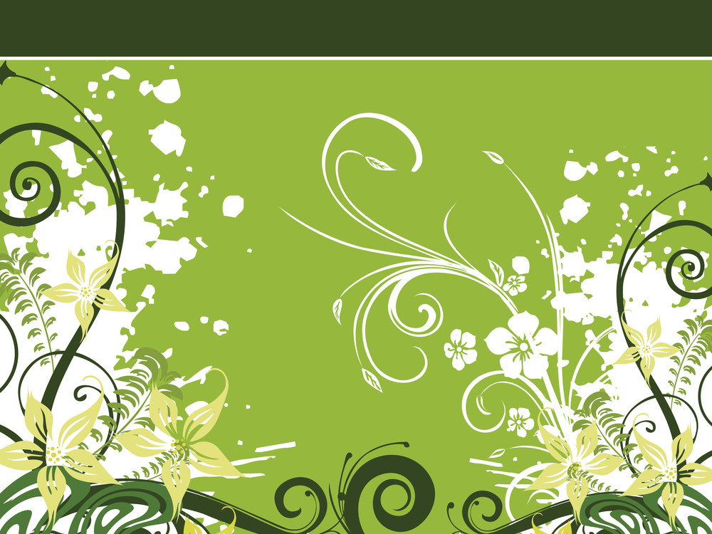 Grungy Floral Pattern With Background