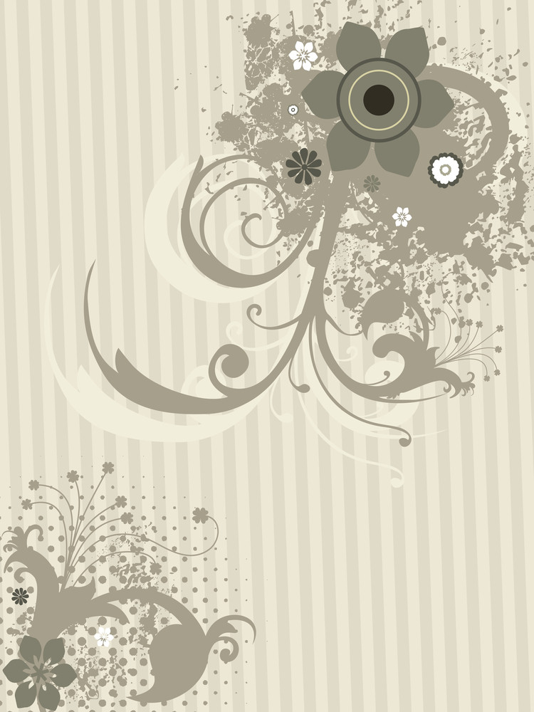 Grungy Floral With Background
