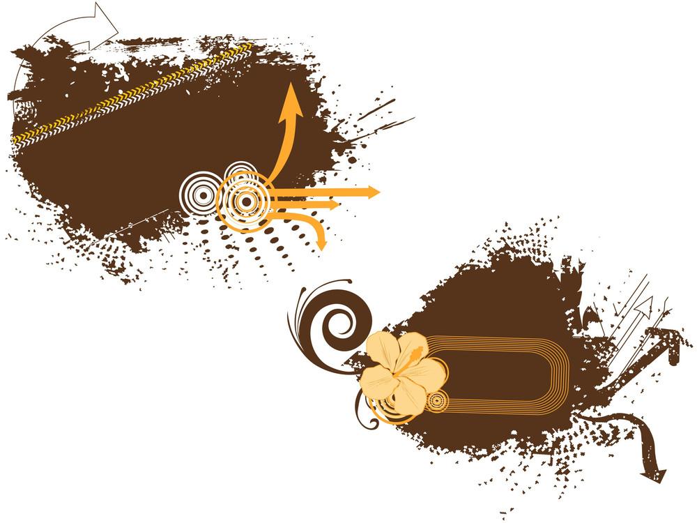 Grungy Frames Illustration