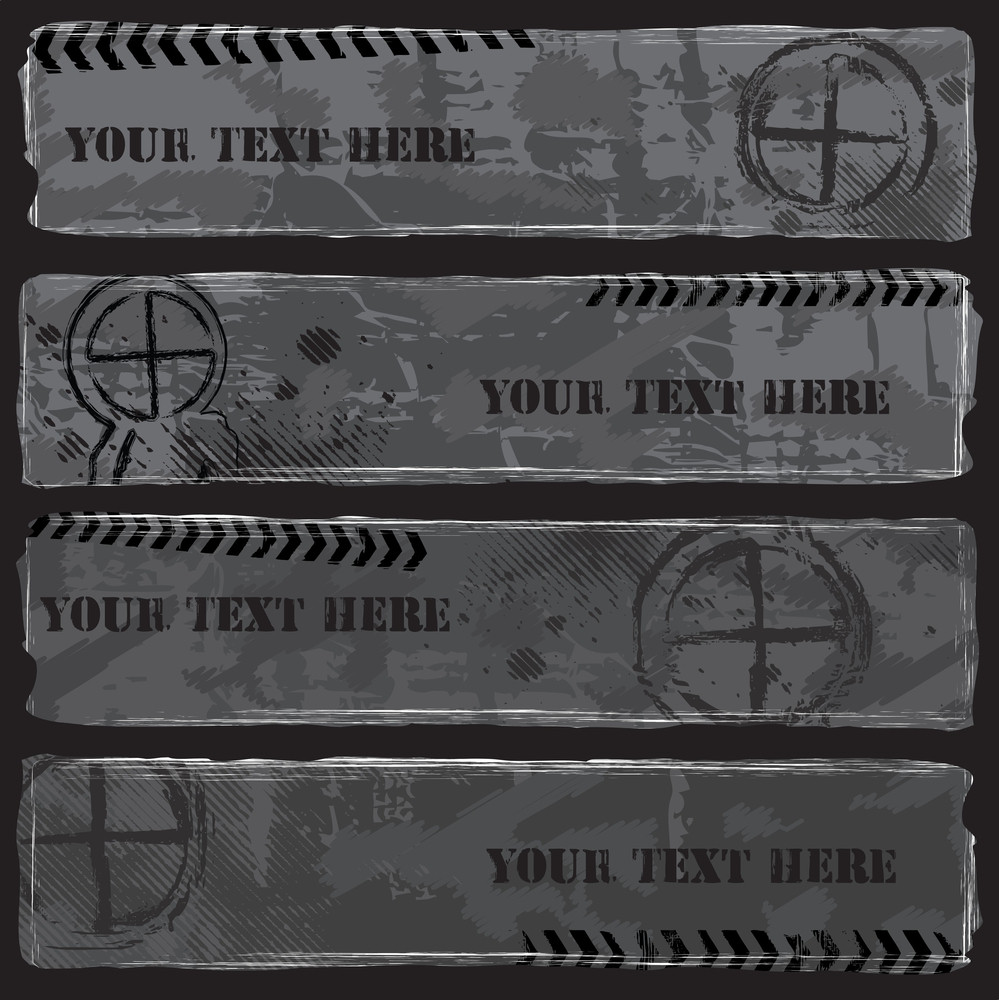 Grungy Grey Military Banners