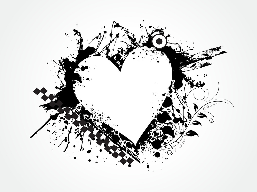 Grungy Heart For Valentine Day