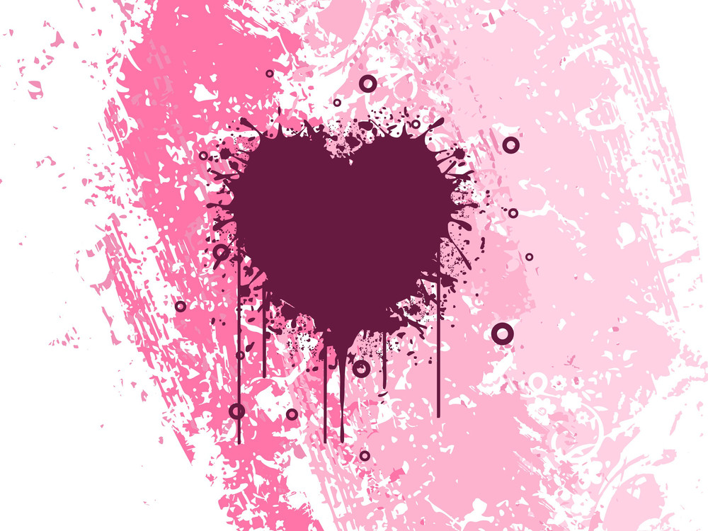 Grungy Heart On Texture Background