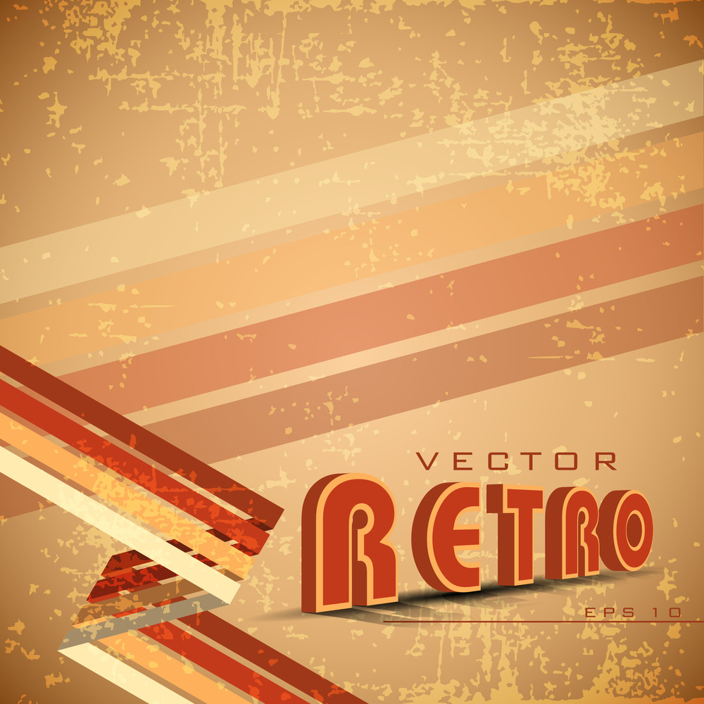 Grungy Light Brown Retro Background