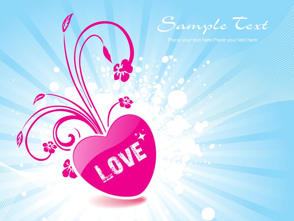 Grungy Love Background Illustration
