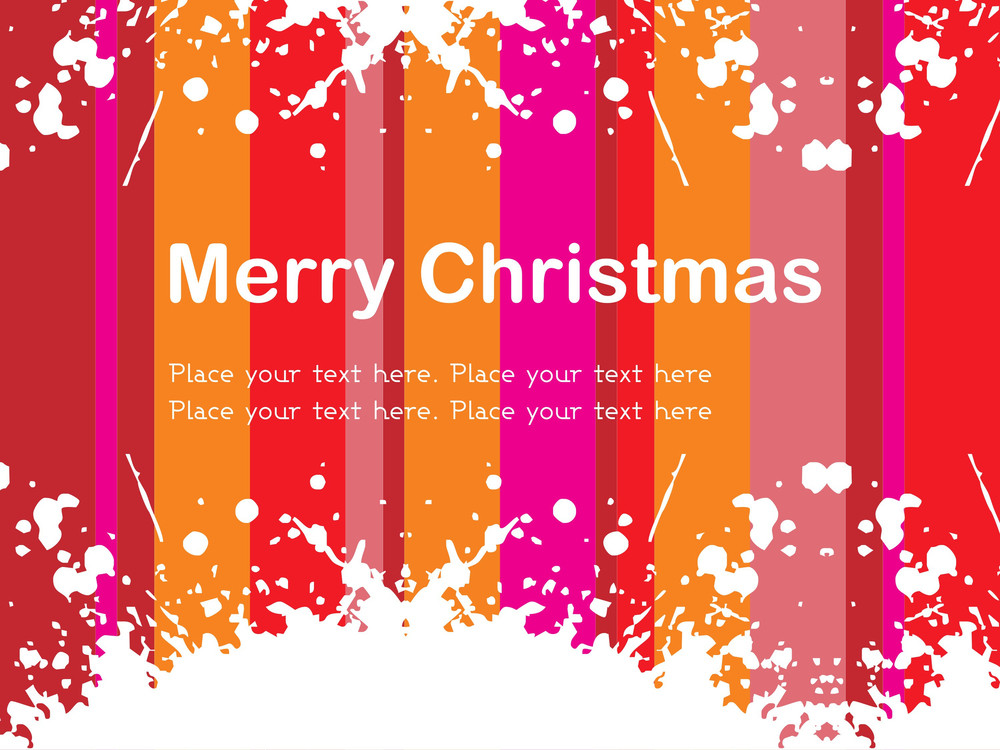 Grungy Merry Christmas Background