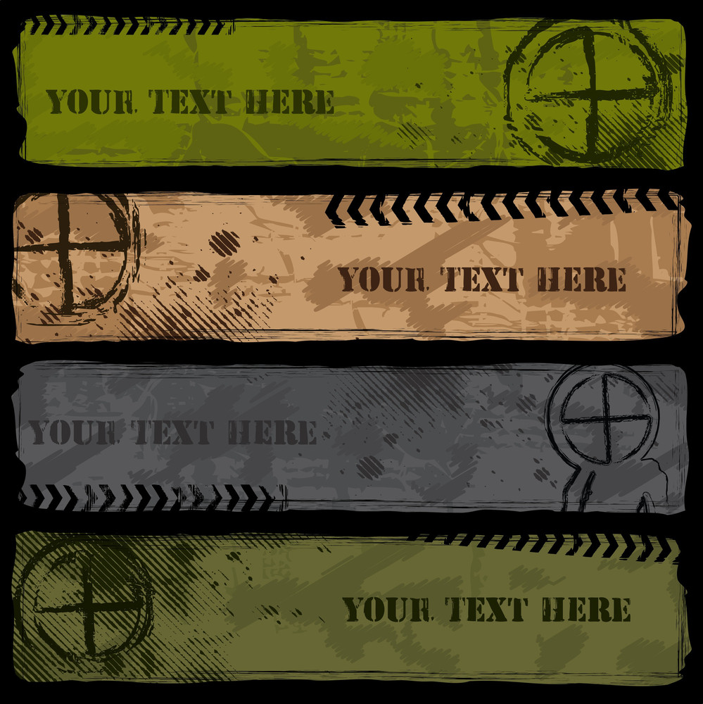 Grungy Military Banner