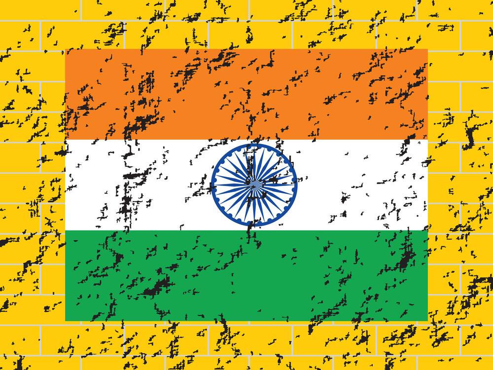 Grungy National Flag Background Illustration