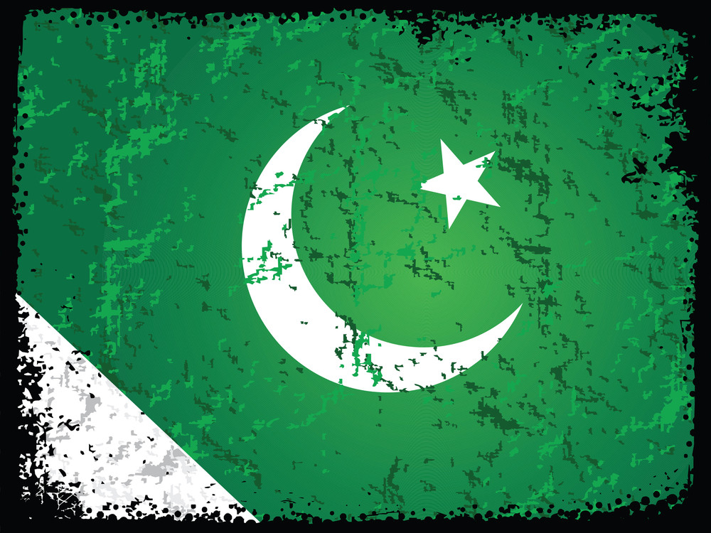 Grungy Pakistan Flag