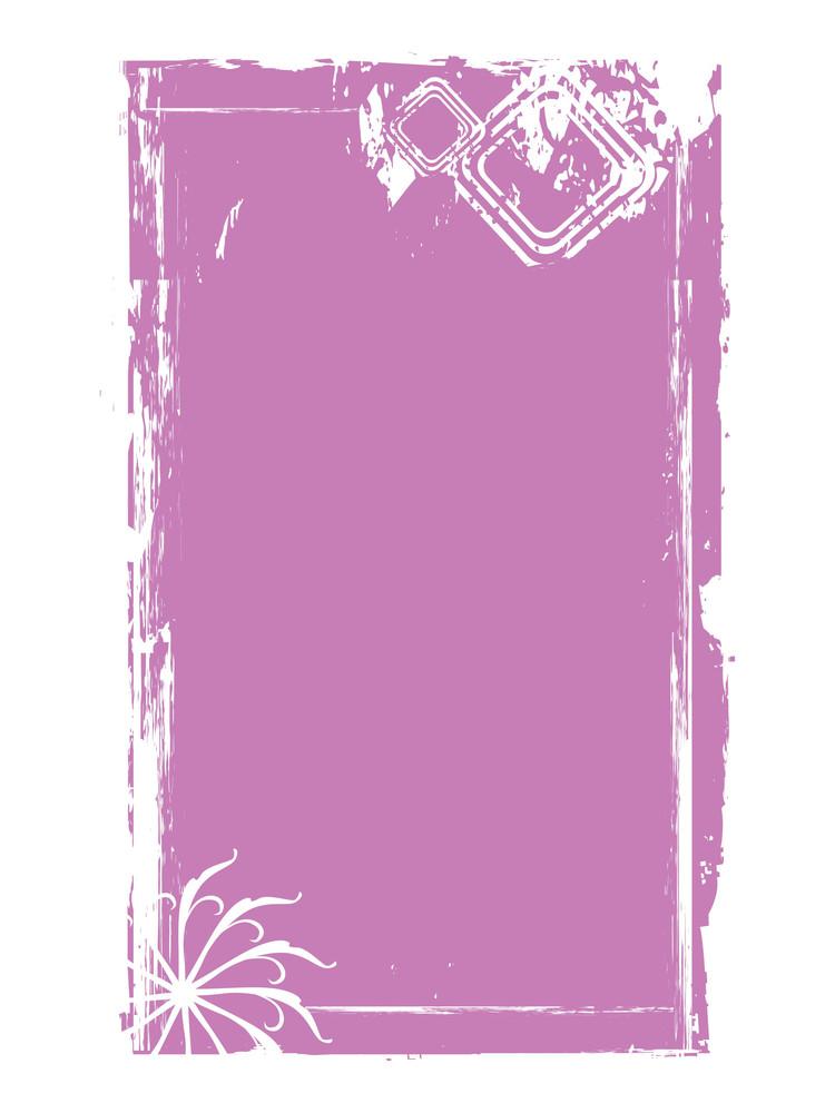 Grungy Purple Frame