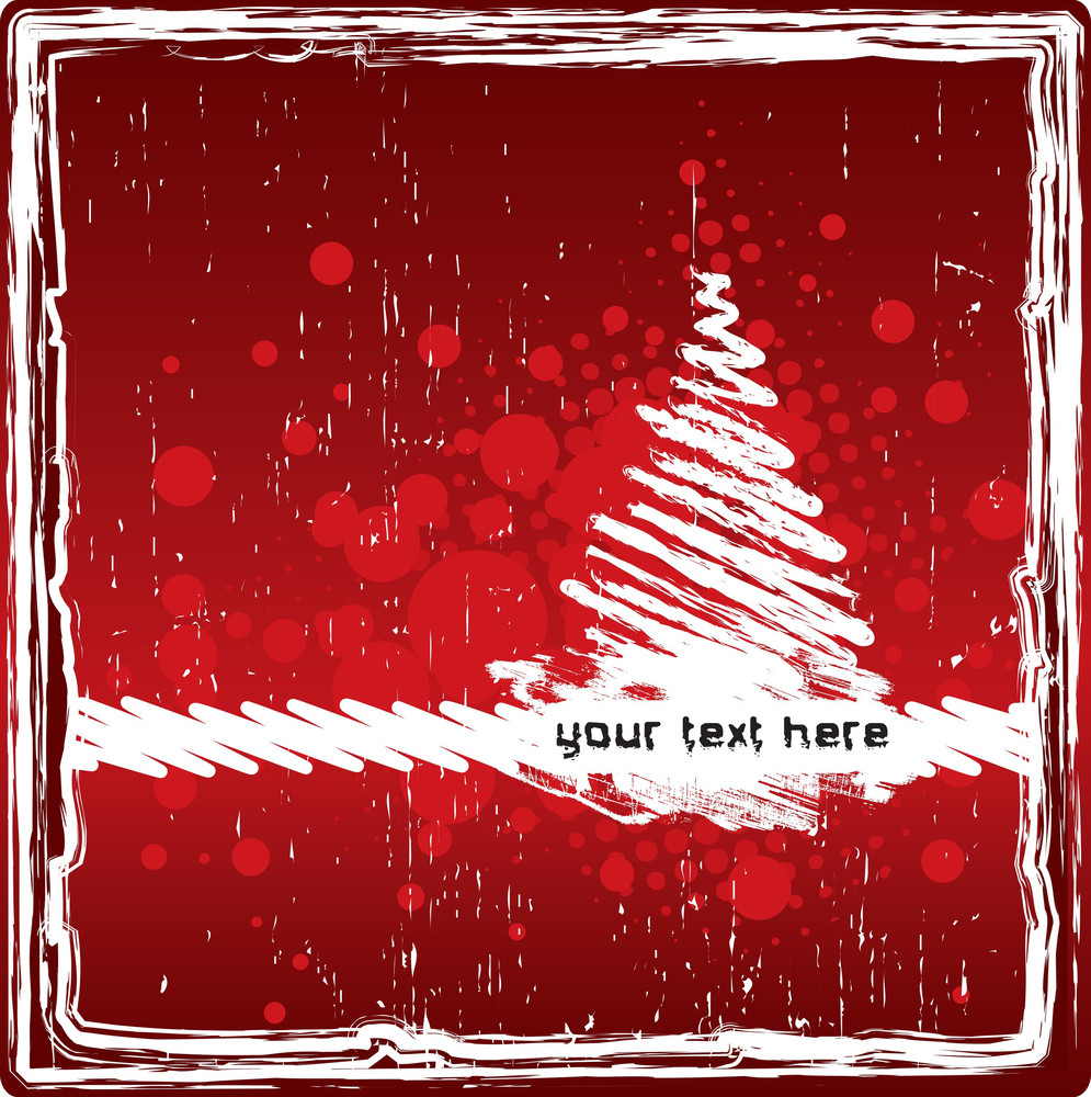 Grungy Red Christmas Background