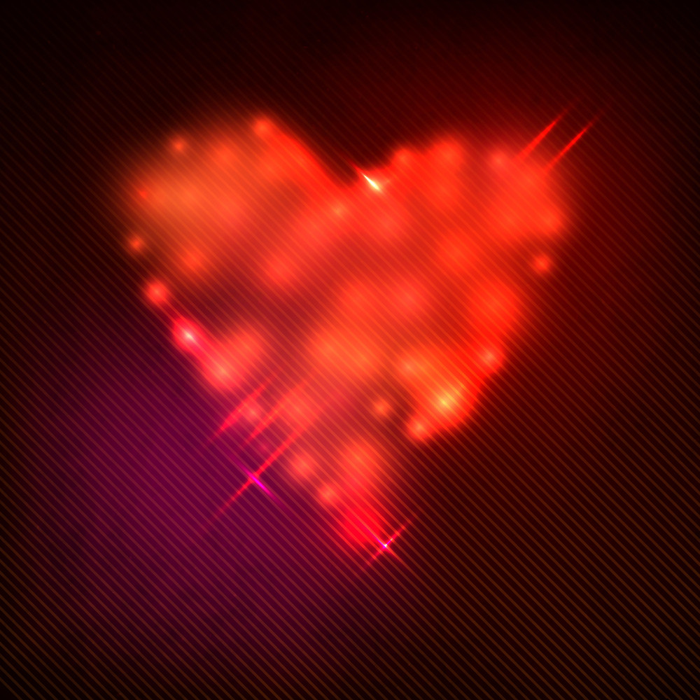 Grungy Red Heart