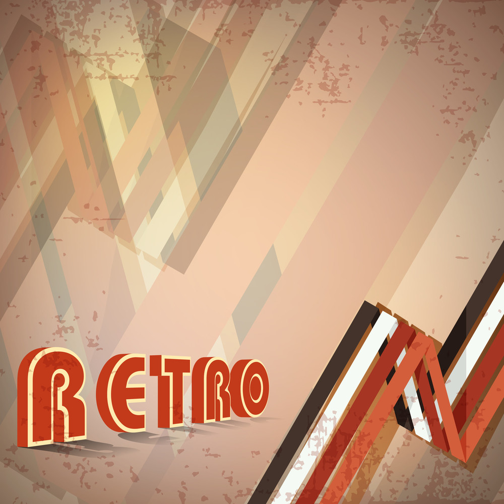 Grungy Retro Background. Eps 1 0