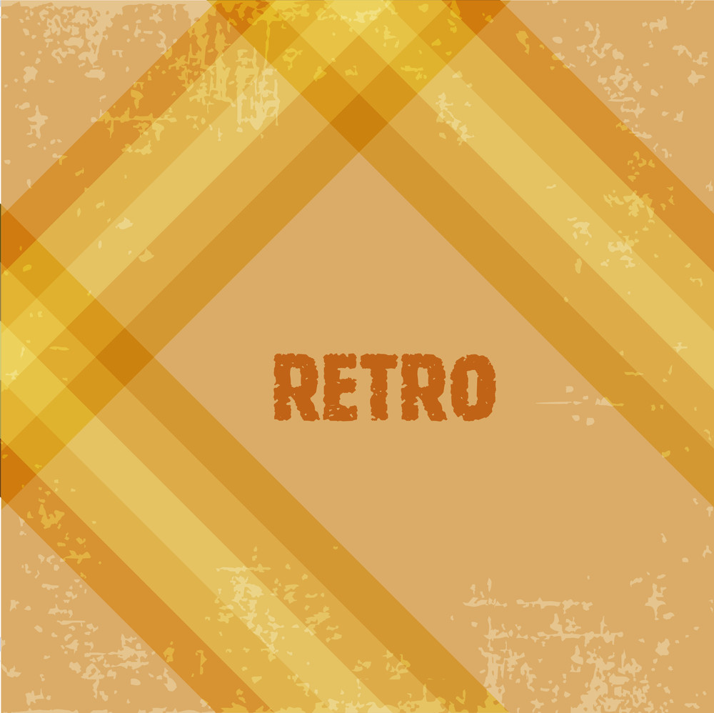 Grungy Retro Background With Colorful Lines And Copy Space For Your Text. Eps 10. Vector Illustration.