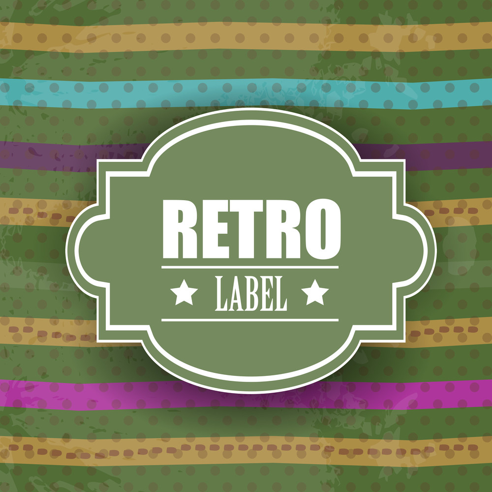 Grungy Retro Background With Colorful Lines And Copy Space For Your Text. Vector Illustration.
