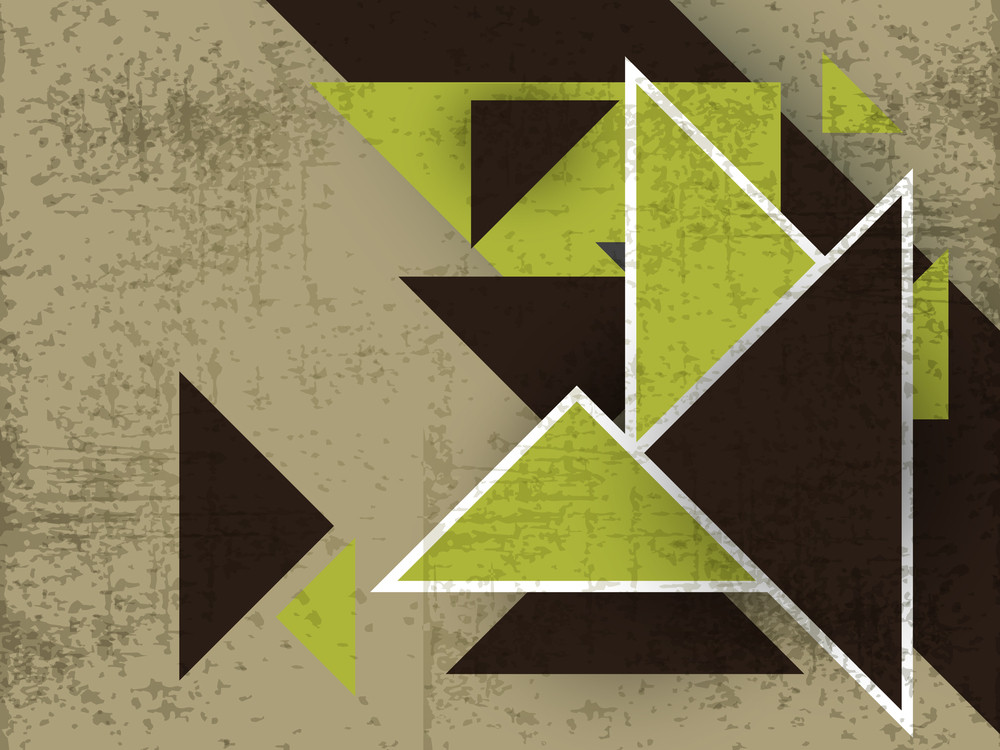 Grungy Retro Background With Creative Abstract Design.
