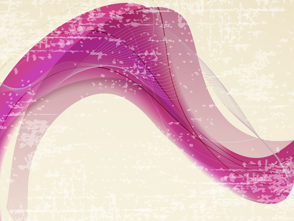 Grungy Retro Background Withpink Wave On Grungy Background.