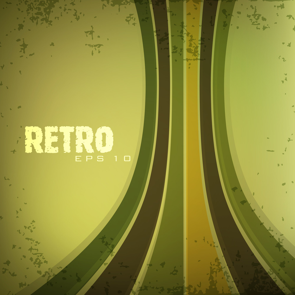 Grungy Retro Background.