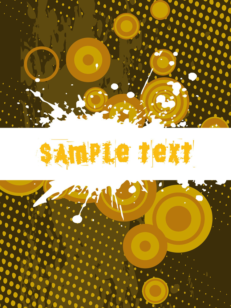 Grungy Sample Text With Dots Background