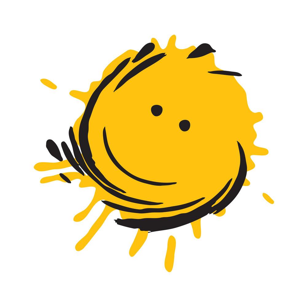 Grungy Smiley Splash