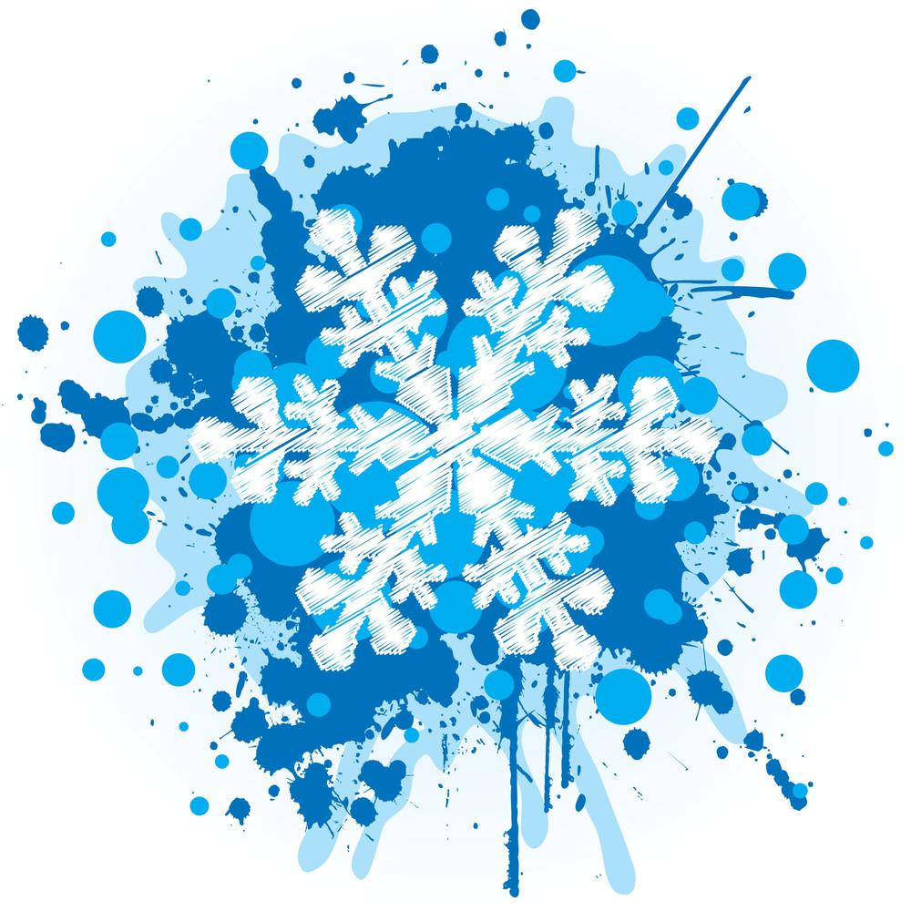 Grungy Snowflake