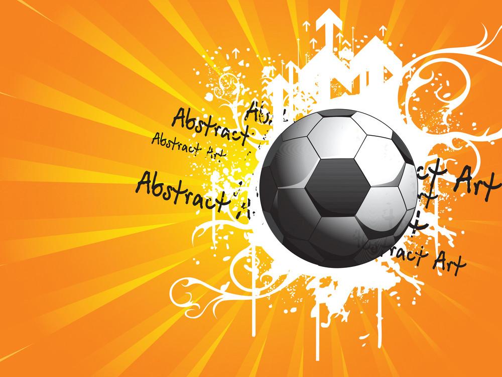 Grungy Soccer With Arrowhead
