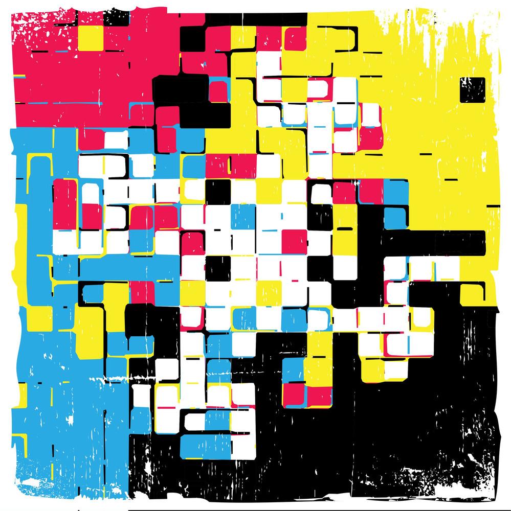 Grungy Tiles Background - Cmyk