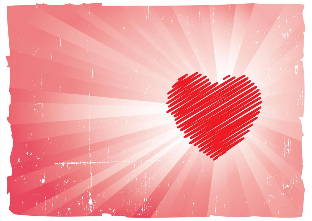 Grungy Valentines Heart