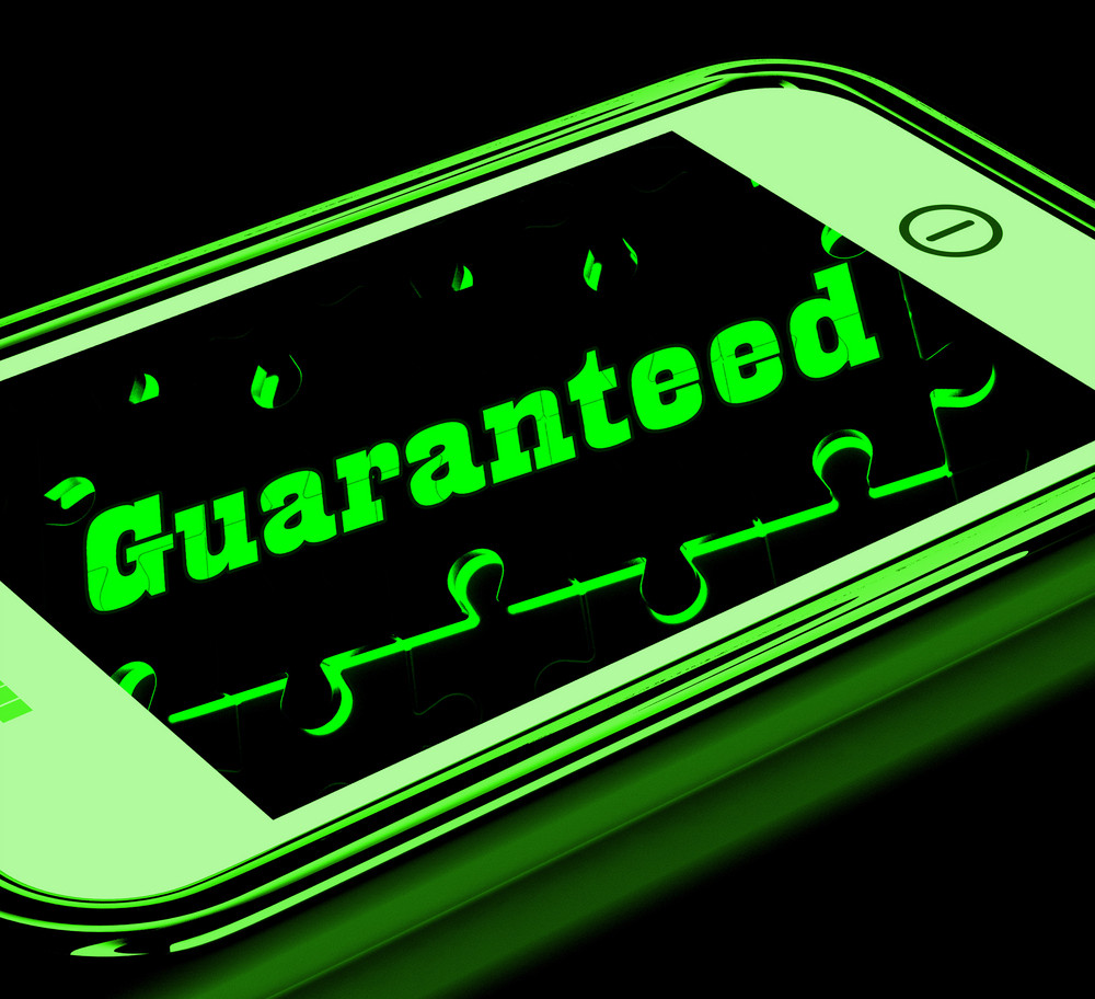 Guaranteed On Smartphone Shows Products Warranty
