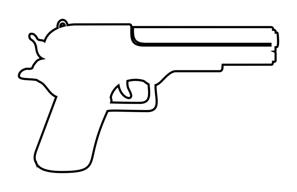 Gun Vector Shape