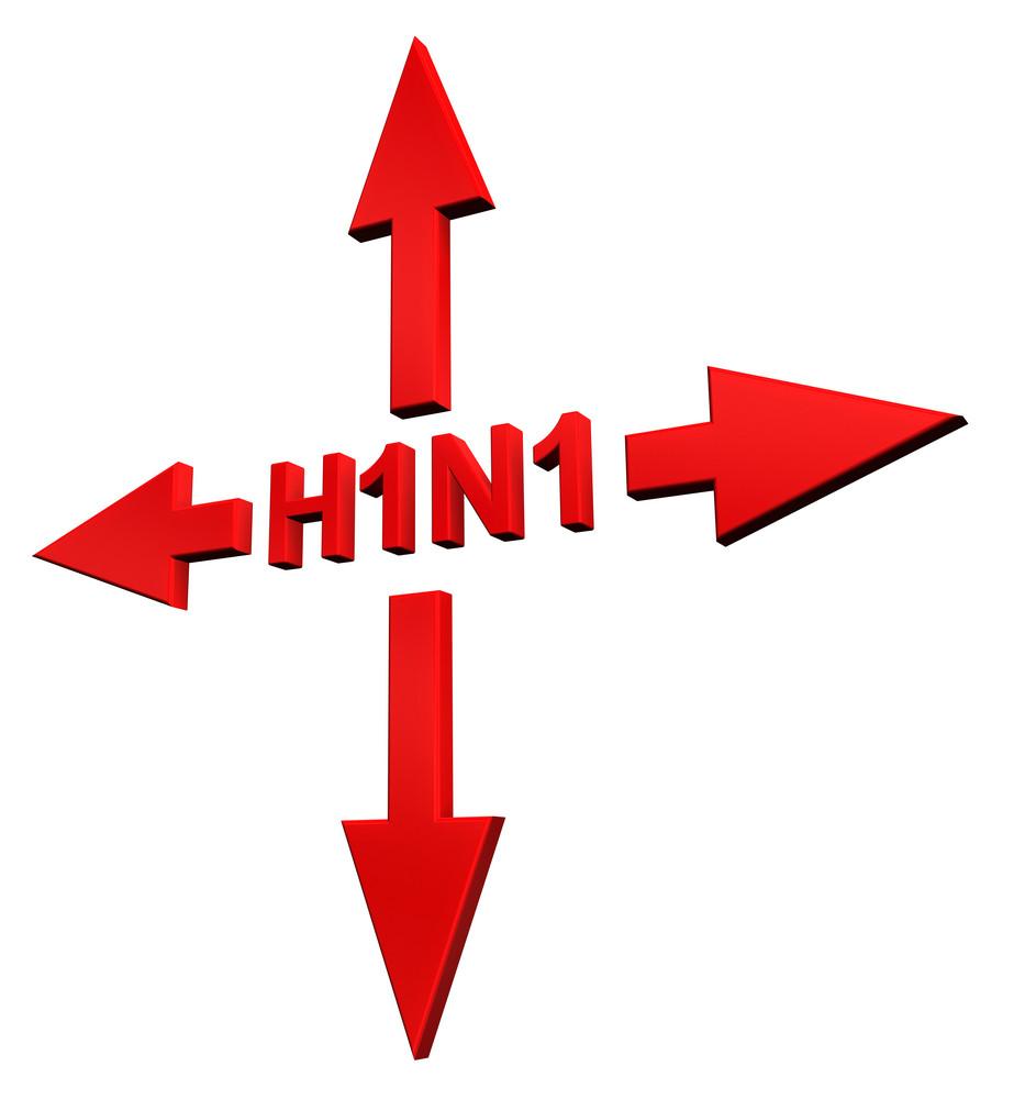 H1n1 - Swine Flu Sign Concept.