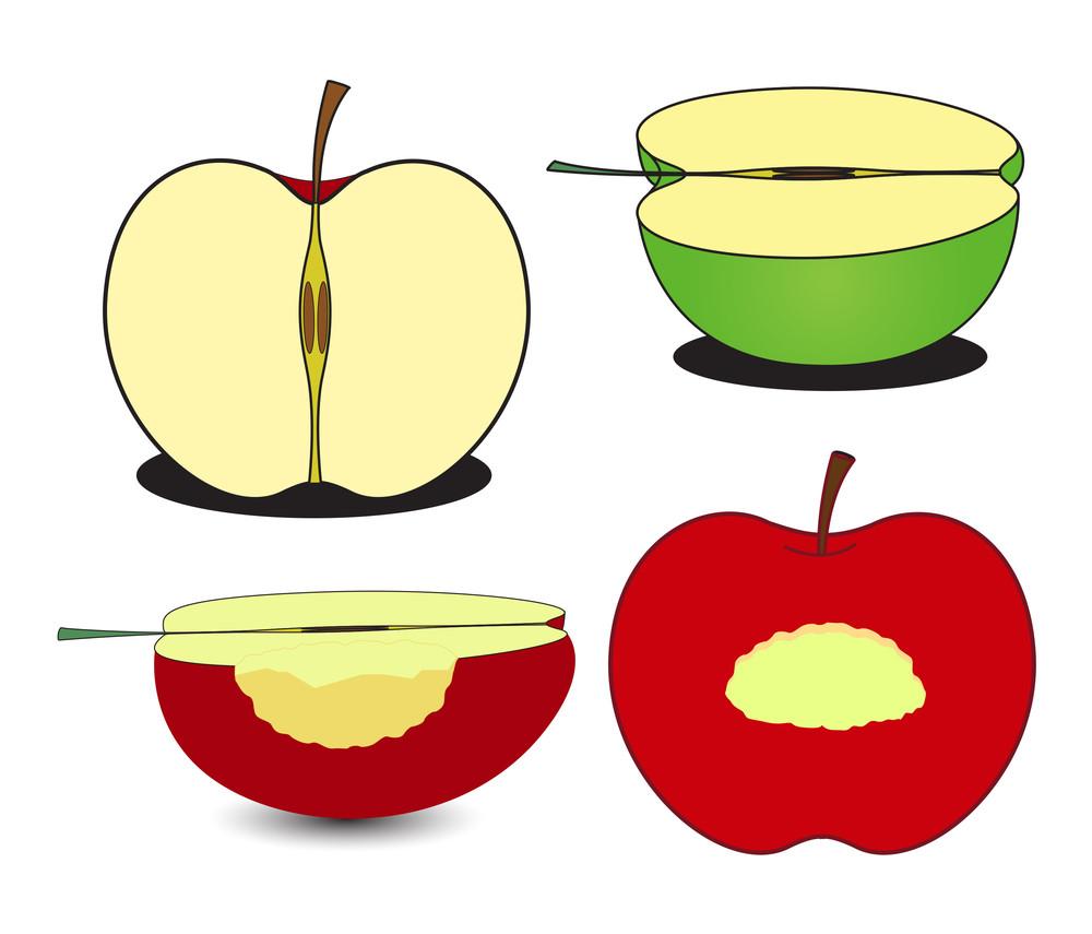 Half And Eaten Apples