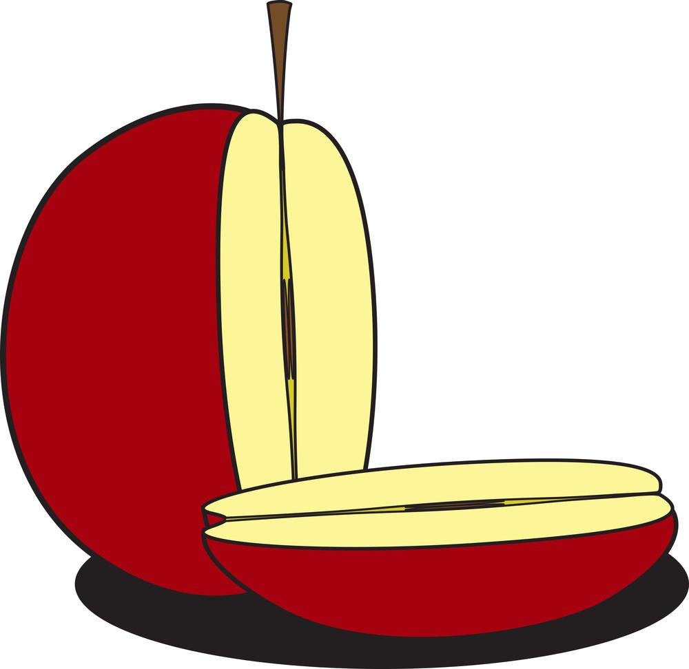 Half Pieces Apple