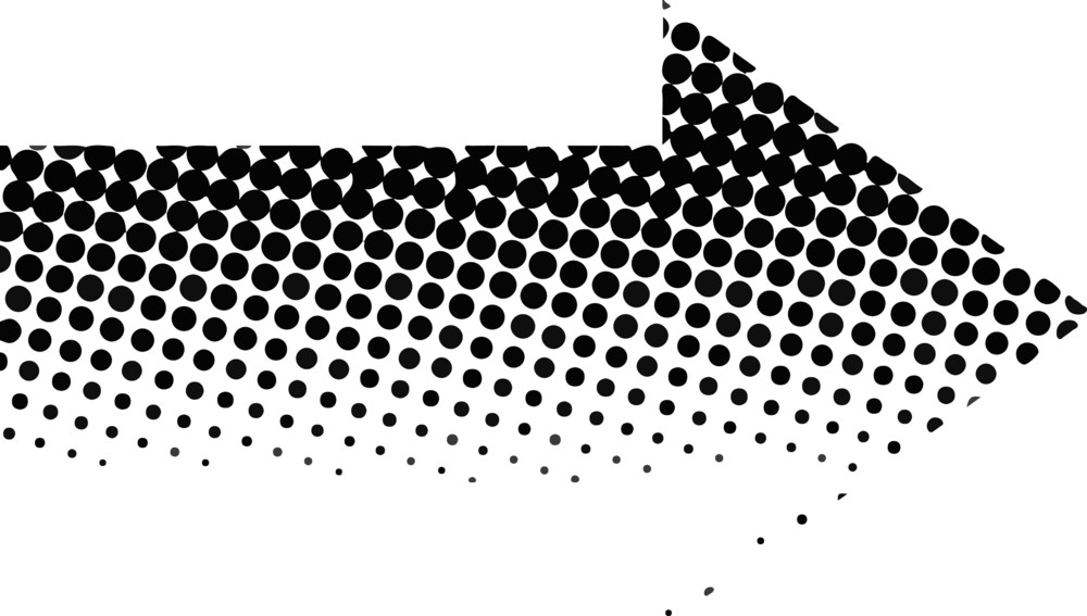 Halftone Arrow Design