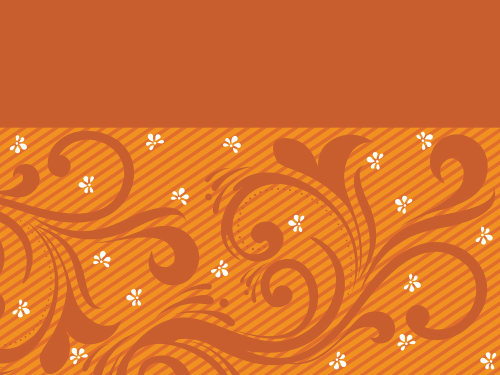 Halftone Background With Floral Pattern