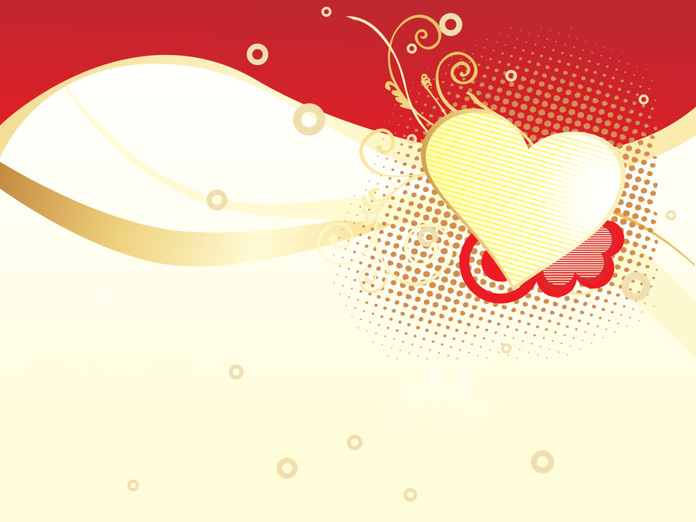 Halftone Background With Heart