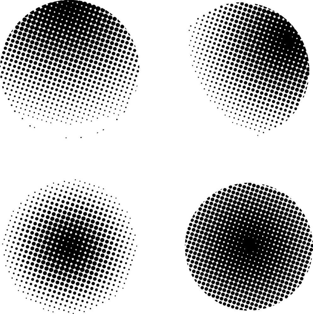 Halftone Circles Collection